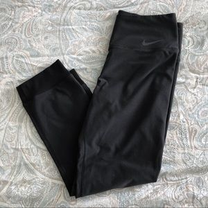 Nike Dri-Fit Cropped Black Running Pant Legging S